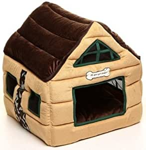 Super Nice Brown Indoor Dog House/pets Beds Pet Kennels Crates & Houses-brown (53x53x56cm)