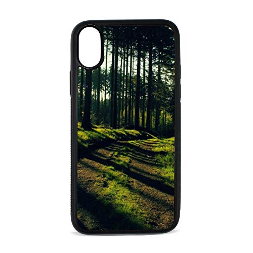 iPhone X Case,Nature Trees Forest Path Sunlight TPU Anti Scratch Protective Cover,Compatible Cell Phone Cases,Printed Shockproof Defender 5.8in