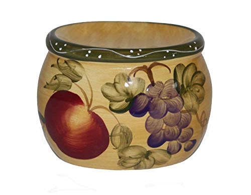 - ACK Tuscany Mixed Fruit Hand Painted Ceramic, Scouring Brillo Pad Holder, 88489