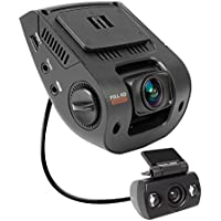 Rexing V1P 2.4' LCD FHD 1080p 170 Degree Wide Angle Dual Channel Dashboard Camera Recorder Car Dash Cam with Rear Camera, G-Sensor, WDR, Loop Recording