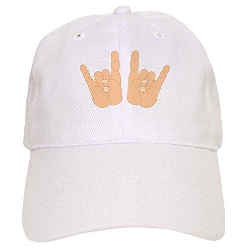CafePress - Rock & Roll Hands - Baseball Cap with Adjustable Closure, Unique Printed Baseball Hat ()