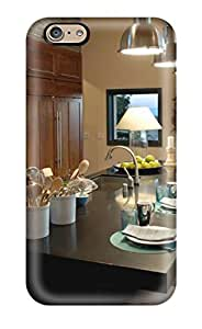 High Quality Kitchen Island With Modern Pendants Amp White Chairs Case For Iphone 6 / Perfect Case