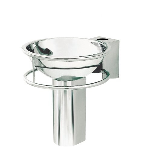 (Decolav 4080-1P Double Ring Wall-Mounted Bracket with Drop-In Lavatory, Polished Stainless)