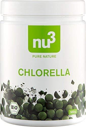 nu3 Chlorella orgánico - 1250 tabletas con extracto natural de micro algas - Gran porcentaje de clorofila - Ideal ...