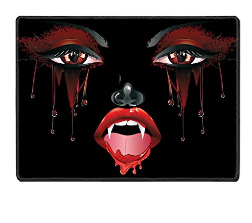 Female Vampire Makeup (Luxlady Natural Rubber Placemat IMAGE ID: 37120024 Abstract female vampire face with festival eye makeup and red lips)