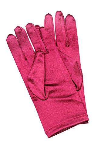 Damsels In Distress Halloween Costumes (Elegant Stretch Satin Short Fabric Gloves - Wrist Length - Size: 9