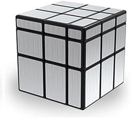 AGAMI 3x3 Mirror Silver, High Speed QIYI Rubiks Cube 3D Puzzle Rubix Cube