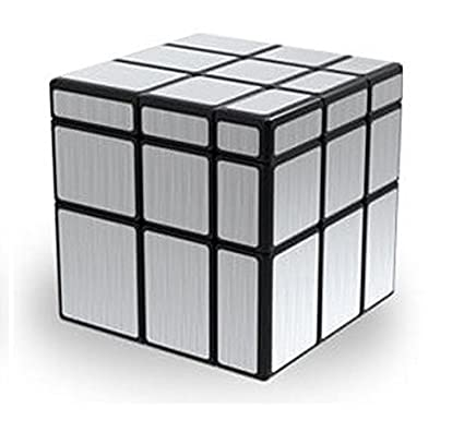 uk availability casual shoes premium selection AGAMI 3x3 Mirror Silver, High Speed QIYI Rubiks Cube 3D Puzzle Rubix Cube