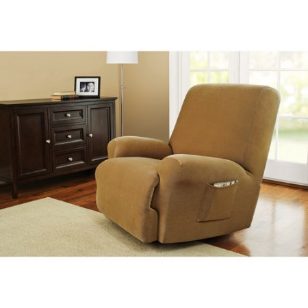Better Homes and Gardens One-Piece Stretch Fine Corduroy Recliner Slipcover from Better Homes & Gardens