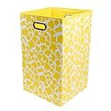 Modern Littles Rusty Folding Laundry Basket, Yellow Giraffe