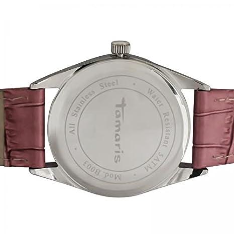9186e0ca18a1d3 Tamaris Damen-Armbanduhr Analog Quarz B03022010  Amazon.de  Uhren