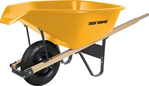 True Temper 6 Cubic Foot Poly Wheelbarrow with Pour Spout - RP6PS12