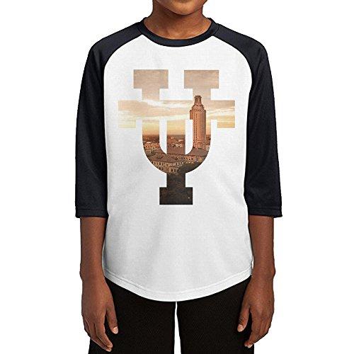 KSWFA Youth Boys Texas-Austin Raglan Baseball T Shirt Black Size L ()