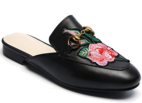Mocassino Donna In Pelle Oxford Backless Slip-ons Mocassino Nero1