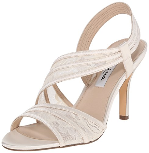 - NINA Women's Vitalia Dress Sandal, Ivory, 5.5 M US