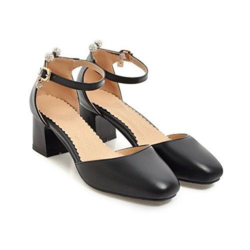 Noir Compensées Femme Sandales ASL05202 BalaMasa R1w7BS