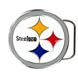 Great American Products NFL Pittsburgh Steelers Belt Buckle, Silver