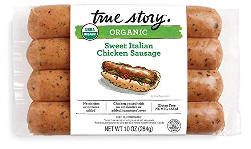 True Story Organic Sweet Italian Chicken Sausage 10 Oz (4 Pack)