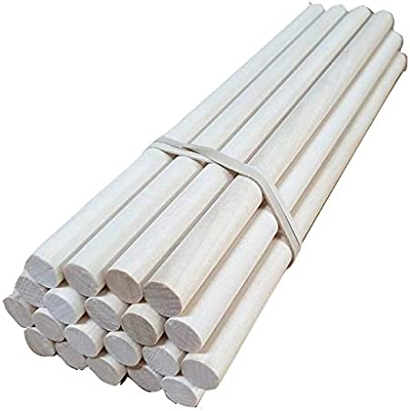 Craft Sticks 20 Pack Trustleaf 3mm x 15cm Birch Hardwood Wooden Dowels