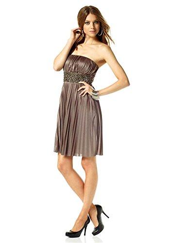 Vestido de cóctel para vestido de noche vestido Laura Scott Beige