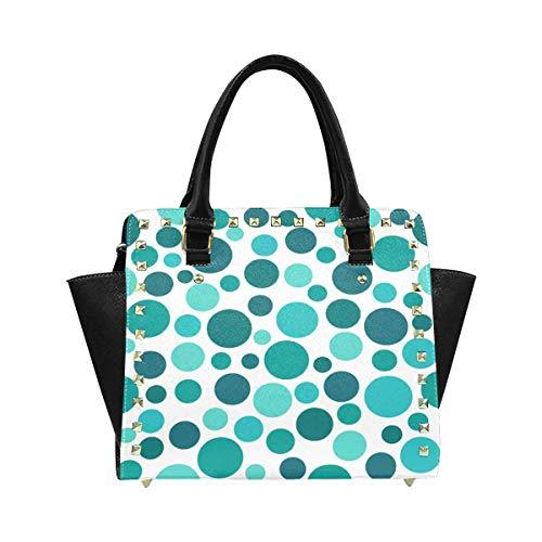 InterestPrint Green Polka Dot Pattern Hobo Handbags Tote Purse for Women Fashion Ladies