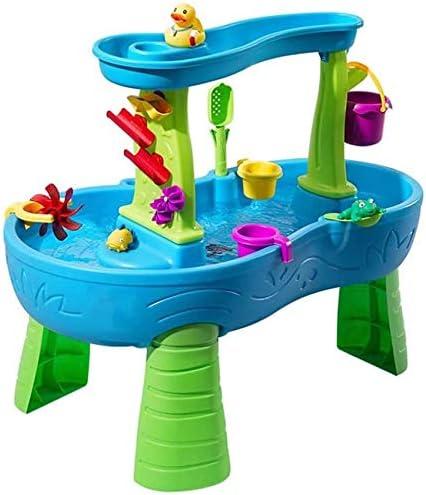 Knoijijuo Splash Water Table Torre, De Lluvia Chapoteo Charca De La Tabla De Agua, Juegos con Agua para Niños Mesa con El 13-Pc Juego De Accesorios, Actividad Juego De Agua Tabla: Amazon.es: