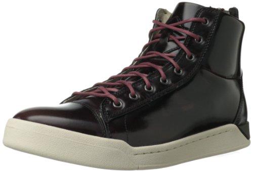 Diesel Men's Diamond Fashion Sneaker,Oxblood Red,8 M US