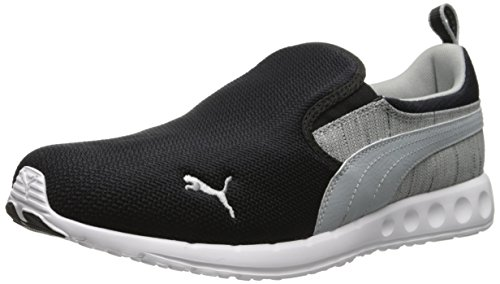 PUMA Men's Carson Runner Slip-On Shoe, Black/Limestone Gray, 14 M US