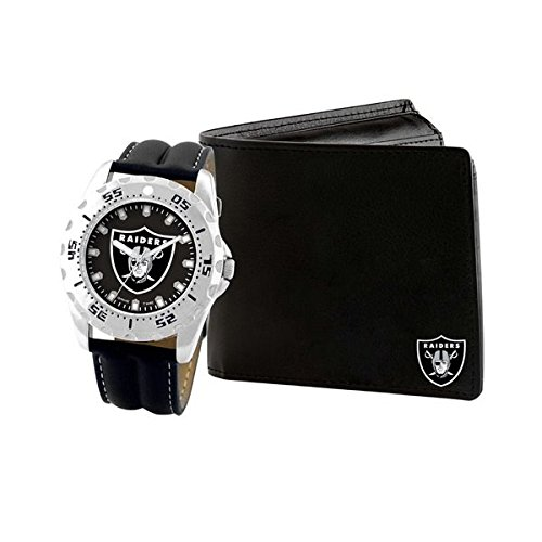 Game Time Watch and Wallet Gift Set - NFL (Oakland Raiders)