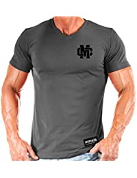 Mens Monsta Warrior Flag V-Neck_(M-VNECK-231) T-