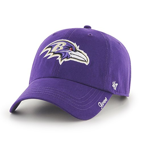 Baltimore Ravens Womens Hats - '47 NFL Baltimore Ravens Women's Miata Clean Up Adjustable Hat, One Size, Purple