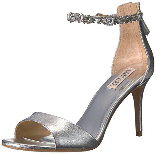 Heeled Women's Badgley Silver Sindy Sandal Mischka Uptn7qp6