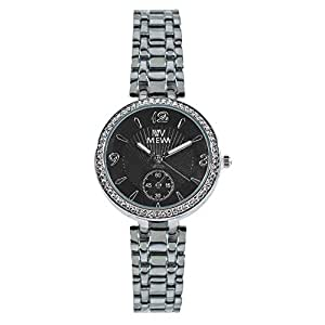 Mewa Women's Black Dial Stainless Steel Band Watch - 1095M