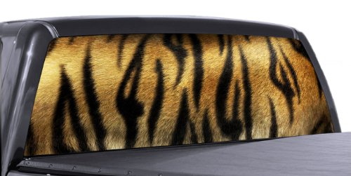(VuScapes - TIGER STRIPES - Rear Window Truck Graphic - decal suv view thru vinyl)