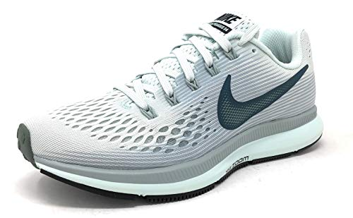 (Nike Womens Air Zoom Pegasus 34 Low Top Lace Up Running Sneaker (Barely Grey/Deep Jungle, 9.5 M US))
