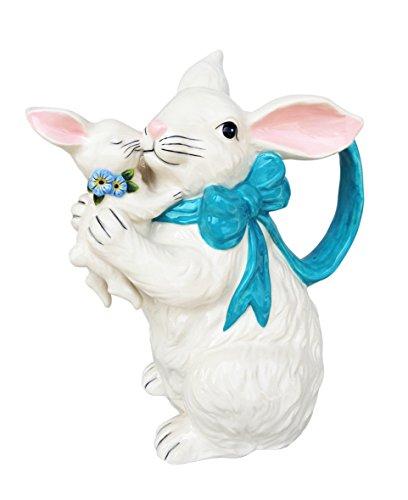 - Blue Sky Ceramic Bunny Pitcher, Multicolor