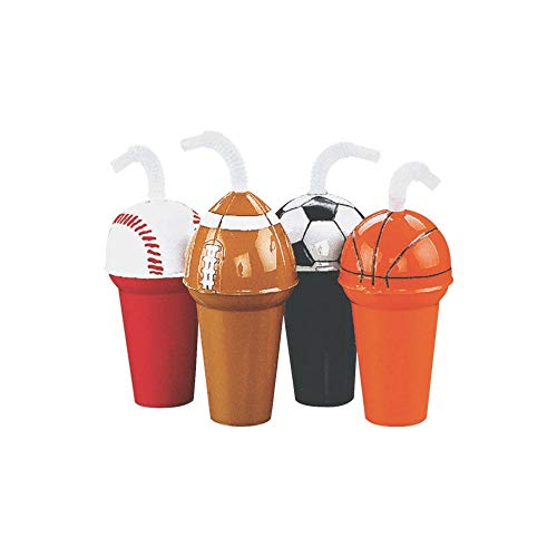 - Sport Cup Assortment - Soccer, Football, Basketball, Baseball (3 of Each; 12 Total) 6