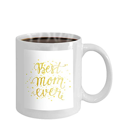 Coffee cup mug best mom ever greeting card happy mother day beautiful hand drawn lettering best mom ever greeting card happy mother day 11oz