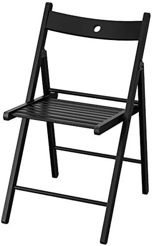 BestOnlineDeals01 TERJE Chaise pliante Noir 44 x 51 x 77 cm Chaises pliables. Chaises de salle à manger Chaises Meubles Respectueux de l'environnement.