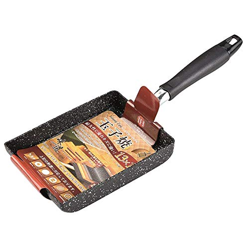 (MyLifeUNIT Non-Stick Omelette Pan, Japanese Rolled Omelet Pan Tamagoyaki Egg Pan (Black))