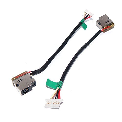 New AC DC Jack Power with Cable Harness for HP 15-AC 15-AC055NR 15-AC061NR 15-AC063NR 15-AC113CL 15-AC121DX M6-P M6-P113DX 799736-S57 799736-T57 F57 (Hp Dc Power Jack)