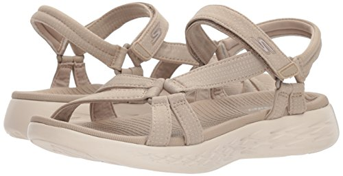 Skechers Performance Women's on-The-Go 600-Brilliancy Wide Sport Sandal,Natural,6 W US by Skechers (Image #6)