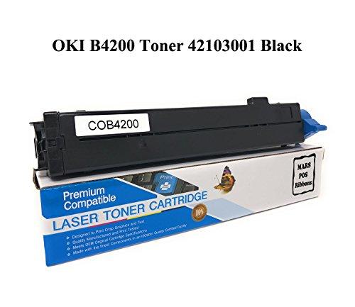 OKIDATA 42103001 OKI B4200 Toner Cartridge Black Compatible for OKI B4100 B4200 B4250 B4300 B4300N B4350 B4350N