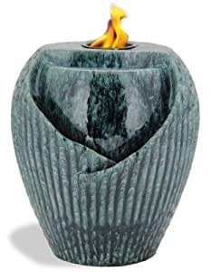 Pacific Décor Osaka LED Flame Fountain, 10 by 10 by 12-Inch, Storm