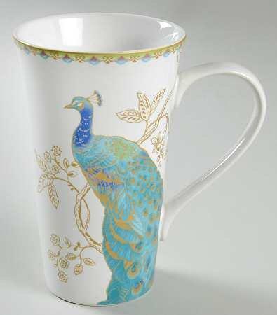 222 Fifth Peacock Garden Latte Mug - 1 Pc
