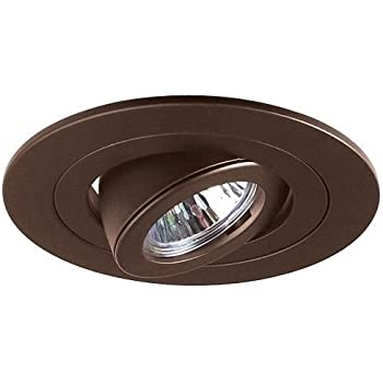 4  Inch Recessed Ceiling CAN Light 12V MR16 Adjustable Ring Gimbal Trim BROWN BRONZE  sc 1 st  Amazon.com & 4