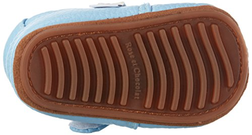 Rose & Chocolat Rcm 1051 - Botas de senderismo Bebé-Niñas Blau (Rocky Racoon Light Blue)