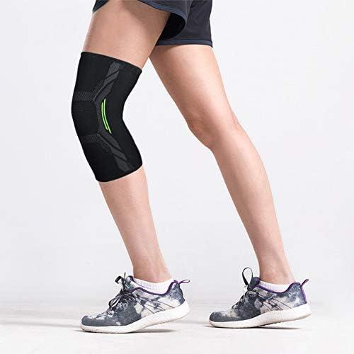 Haodasi Kniebandage (1 Paar) - Sommer Dünne Anti Rutsch Kniebandage Elastische, Atmungsaktive Kniekompressionshülse