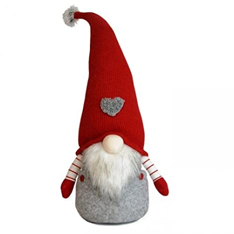 Hearts Hat Festive 34cm Cuddly Santa Gonk Indoor Christmas Decoration
