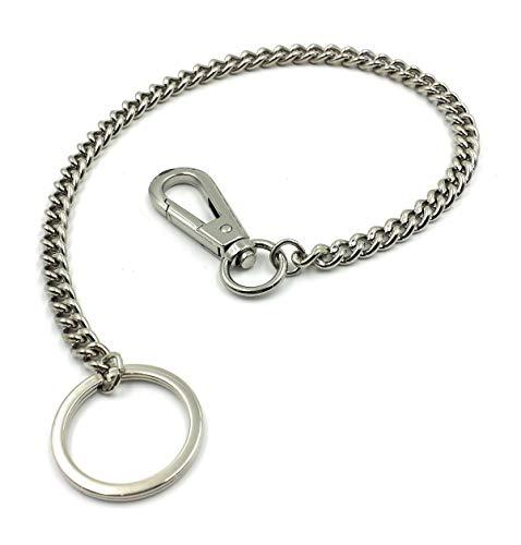 FJR-ArtPiel - Llavero cadena de metal con mosquetón (38,5cm) - Modelo cadena gruesa - Alta Calidad